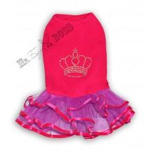 Платье «Корона» Малина и сирень