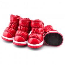 Зимние сапоги «Дутики» Красные
