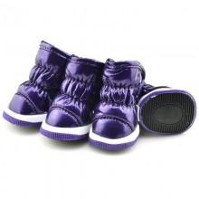Зимние сапоги «Дутики» Фиолетовые