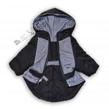 Теплая двухсторонняя куртка КЛЕТКА