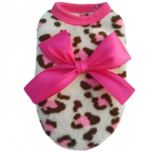 Мягкая теплая футболка Розовый леопард