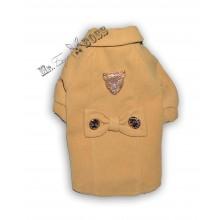 Кашемировое стильное пальто ГОРЧИЧНОЕ