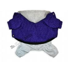 Комбинезон стеганный Фиолетовый (утепленный)