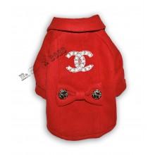 Кашемировое стильное пальто Красное