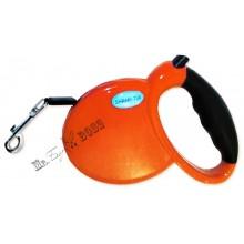 Поводок-рулетка для выгула собак весом до 15 кг. Длина поводка - 3 м. Оранжевый