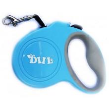 Поводок-рулетка для выгула собак  DIIL до 15кг Длина 4 м Голубой