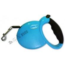Поводок-рулетка для выгула собак весом до 15 кг. Длина поводка - 3 м. Голубой