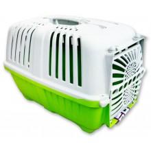 Пластиковая переноска для животных Pratiko Зеленая