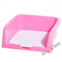 Туалет для собак с бортом и съемной сеткой Розовый