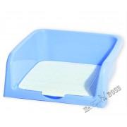 Туалет для собак с бортом и съемной сеткой Голубой