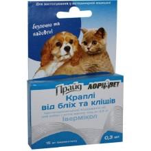 Прайд Лори - капли от блох и клещей для собак до 2,5 кг и кошек 15мг