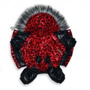 Комбинезон «Красный леопард» для девочки